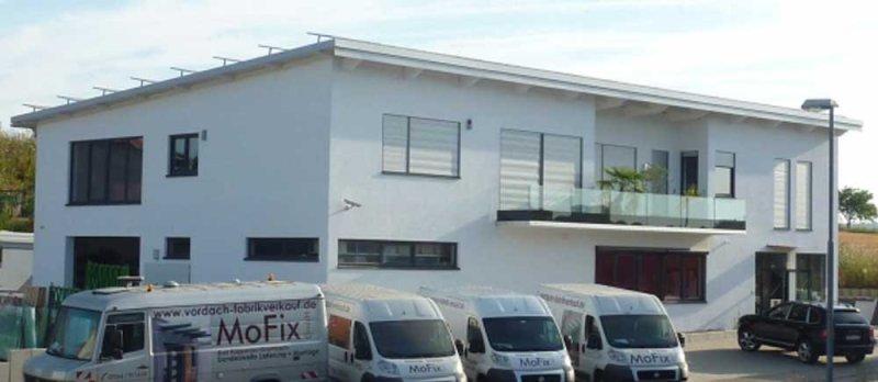 750 m² Büro, Lager und Vordach-Ausstellung, 1.000 m² Glas-Lager