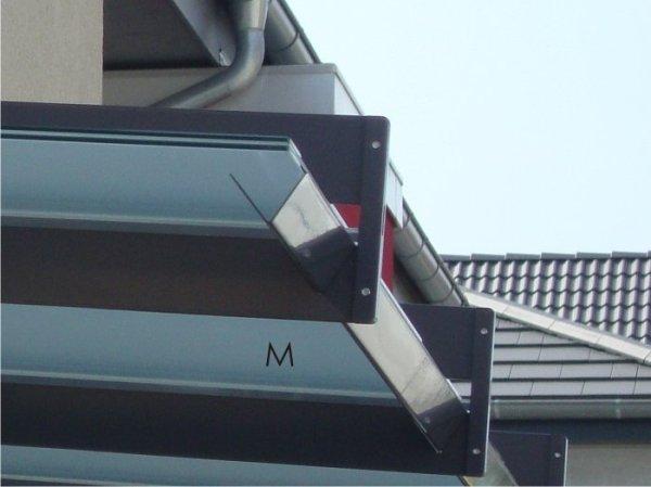 Integrierte Regenrinne für Modell Dessau